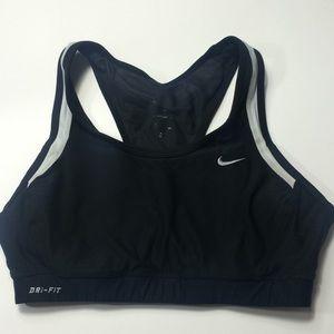 Nike dri fit sports bra - black